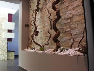 Officina design 玄關、走廊與階梯配件與裝飾品 石器 Grey