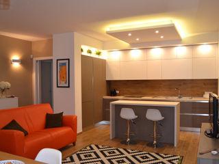 Officina design 現代廚房設計點子、靈感&圖片 Brown