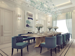 Sumptuous Dining Room Design IONS DESIGN Modern dining room Marble Green