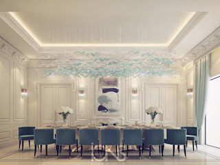 Palatial Dining Room Design IONS DESIGN Modern dining room Marble Green