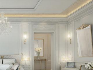 Peek on the Glamorous Master Bedroom Design IONS DESIGN Minimalist bedroom Marble White