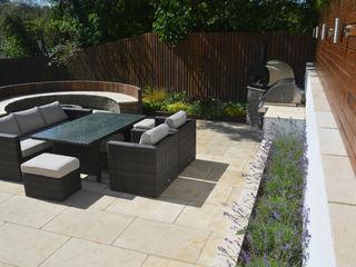 A family entertaining garden Robert Hughes Garden Design Jardines de estilo moderno