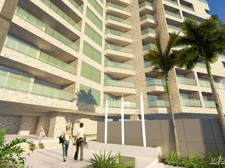 """Conjunto de Apartamentos """"Puerto Plata"""" Grupo JOV Arquitectos Balcones y terrazas de estilo moderno"""