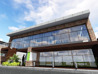 Galpón Laboratorio en Miami Ghalmaca Arquitectura Garajes y galpones industriales Ladrillos Marrón