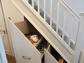 Rear Extension, Loft Conversion, Total Internal Out Fit Progressive Design London Modern corridor, hallway & stairs