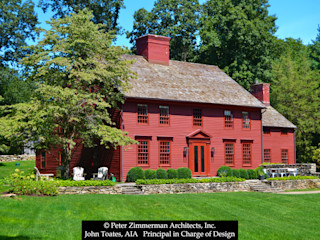 John Toates Architecture and Design Classic style houses Red