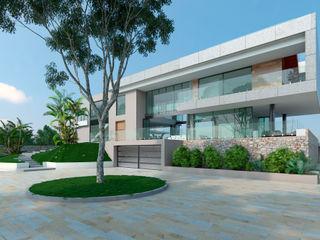 Area5 arquitectura SAS Modern Evler Beton Gri