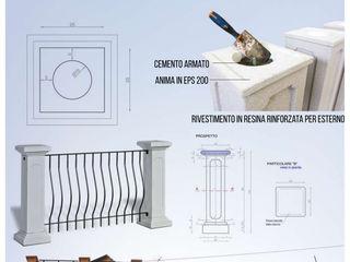 Pilastrini alleggeriti per terrazzo edificio in centro a Padova Eleni Decor