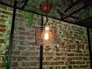 Lamparas Colgantes Edison Espiral Lamparas Vintage Vieja Eddie LivingsIluminación Hierro/Acero Metálico/Plateado