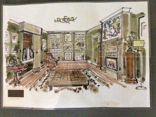 Gentleman's Study Elephant Interior Exterior Design Study/office