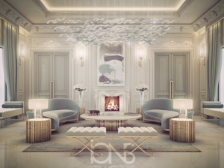 Vibrant Lounge Room Design IONS DESIGN Living room Marble Grey