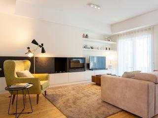 Traço Magenta - Design de Interiores Salon moderne Beige