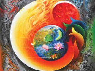 Indian Art Ideas Espaços comerciais asiáticos Vermelho
