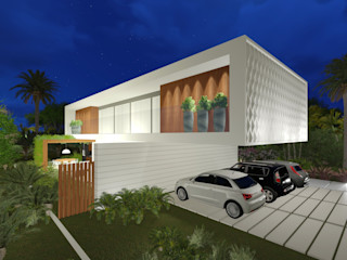 Renata Matos Arquitetura & Business Modern houses Wood White