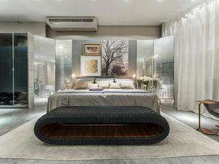 Renata Matos Arquitetura & Business BedroomBeds & headboards Flax/Linen Grey