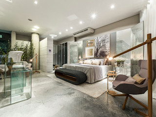 Renata Matos Arquitetura & Business BedroomAccessories & decoration Cotton Amber/Gold
