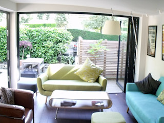 Extension and alteration to Victorian villa Jump Architects Ltd Eclectic style living room