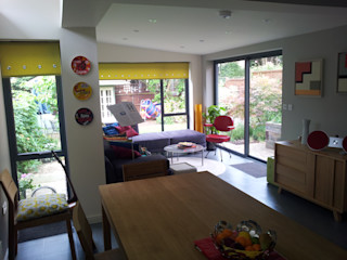 House extension and alterations London Jump Architects Ltd Eclectic style dining room