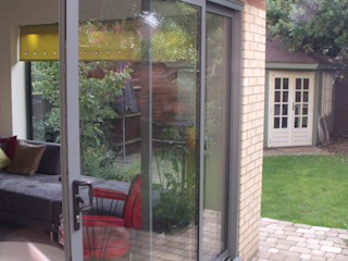 House extension and alterations London Jump Architects Ltd Eclectic style houses Aluminium/Zinc Grey