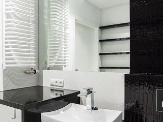Mieszkanie Kraków, Czyżyny Pogotowie Projektowe Aleksandra Michalak Nowoczesna łazienka