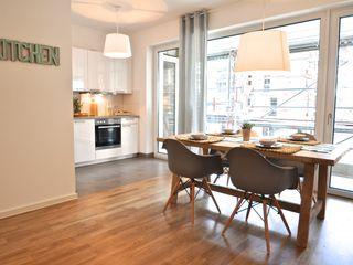 Musterwohnung in Pastell Karin Armbrust - Home Staging Esszimmer im Landhausstil