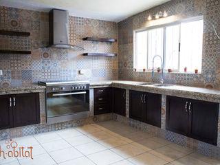 H-abitat Diseño & Interiores Cozinhas ecléticas Azulejo Multicolor