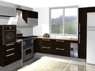 Loft estudio C.A. CocinaEstanterías y gavetas