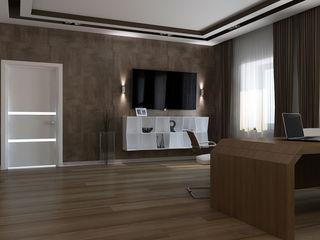 PUZZLE Minimalist study/office Wood effect