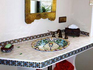 Mexambiente e.K. Rustic style bathroom Ceramic Multicolored