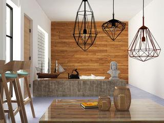 Hipercubo Arquitectura Dinding & Lantai Gaya Kolonial Beton White