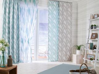 Indes Fuggerhaus Textil GmbH カントリーデザインの リビング