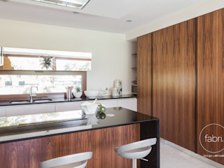 FABRI Modern style kitchen Wood effect
