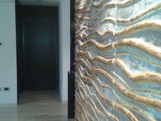 APARTAMENTO EN RESIDENCIAS SANTA LUCIA. CelyGarciArquitectos Salas de estilo minimalista Derivados de madera Metálico/Plateado
