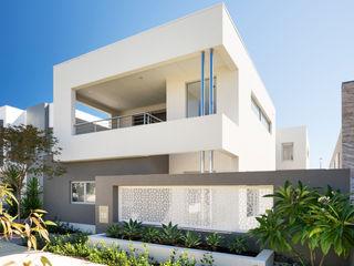 Churchlands Residence Moda Interiors Casas de estilo moderno Hormigón Blanco