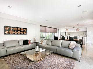 Churchlands Residence Moda Interiors Salones de estilo moderno Azulejos Blanco
