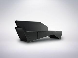 Portus Cale Sofa Durius_ConceptDesign Living roomSofas & armchairs Fake Leather Black