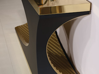 Pozzo Durius_ConceptDesign Living roomCupboards & sideboards Tiles Amber/Gold
