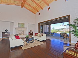 Santaluz Vacant Staged to Sell Home Staging by Metamorphysis Mediterranean style living room