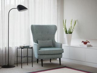 'Modernity in the woods' - North London residential refurbishment SWM Interiors & Sourcing Ltd Soggiorno moderno Blu