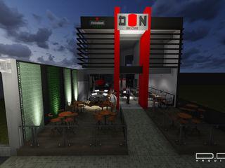 Estúdio 12b Asian style bars & clubs Concrete Red