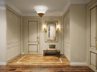 небольшая квартира на карамышевской набережной ARK BURO Коридор, прихожая и лестница в классическом стиле