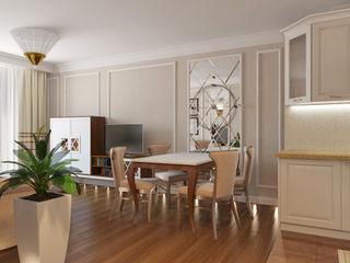 небольшая квартира на карамышевской набережной ARK BURO Гостиная в классическом стиле