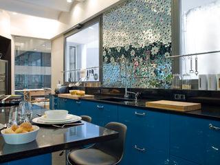 DEULONDER arquitectura domestica Dapur Modern Blue