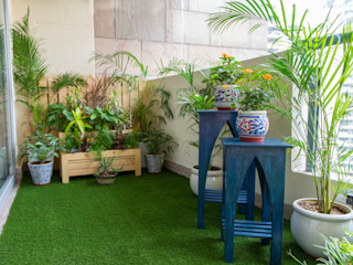 Studio Earthbox Eclectic style balcony, porch & terrace