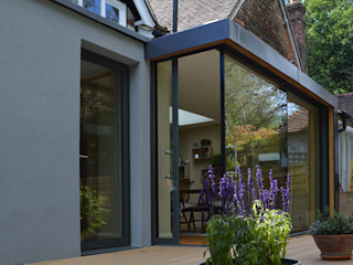 Glazed Extension for a 19th Century Home ArchitectureLIVE Modern houses Glass Transparent