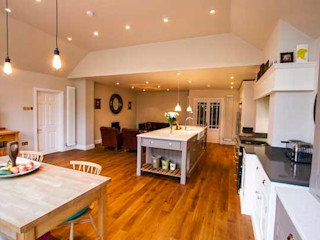 Kitchen Extension, Hinchley Wood Cube Lofts 現代廚房設計點子、靈感&圖片