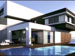 Grupo Puente Arquitectos.com Modern Evler Beton Beyaz