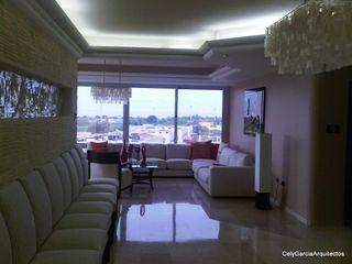 CelyGarciArquitectos Salas de estilo moderno Mármol Beige