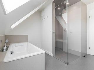Bad mit Dampfsaauna Ohlde Interior Design Moderne Badezimmer Fliesen Beige