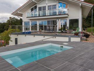 design@garten - Alfred Hart - Design Gartenhaus und Balkonschraenke aus Augsburg Piscine Blanc